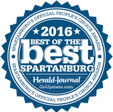 2016 Best of the best spartanburg's official peoples choice award by herald journal